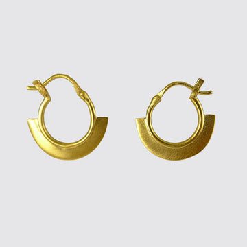 Tiny Wedge Hoop Earring