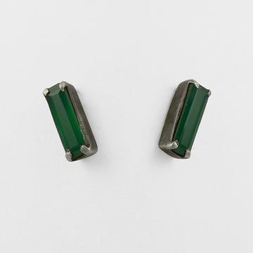 Faceted Baguette Stud Earring