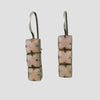 Three Faceted Square Stone Earrings