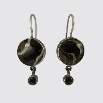 Classic Cabochon Drop Earrings