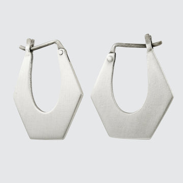 Medium Four Corner Hoop Earrings