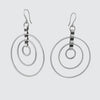 Concentric Circle Drop Earrings