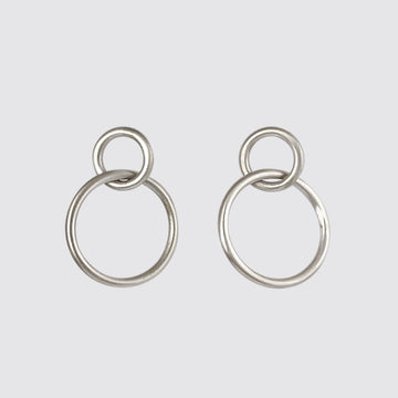 Wire Stud Hoop Earrings