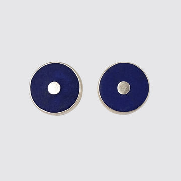 Round Stone Stud Earrings