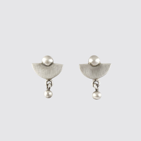 Lunar Stud with Ball Drop Earrings