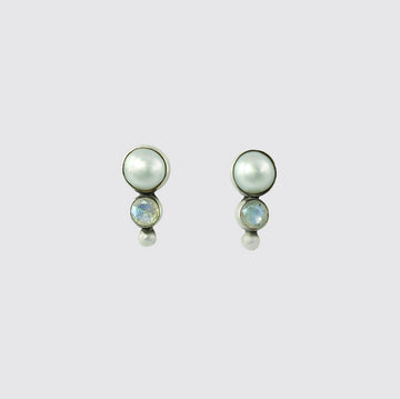 Pearl, Stone And Ball Stud - EJ2066