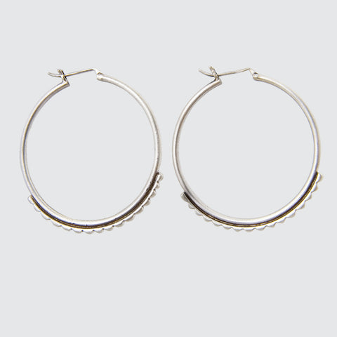 Large Tuareg Inspired Hoop Earrings