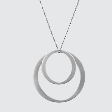 Simple Double Circle Necklace