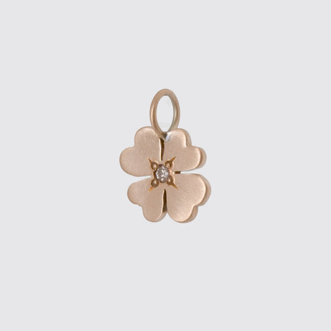 Lucky Shamrock Gold Charm