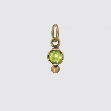 Tiny Stone Charm with Granulation