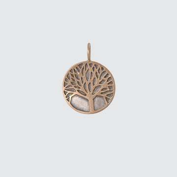 Tree of Life Gold Disc Charm