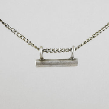 Tiny Bar Amulet Necklace