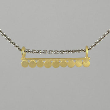 Nine Disc Bar Amulet Necklace