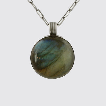 Round Cabochon Pendant Necklace