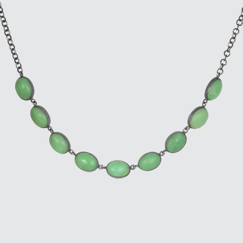 Oval Cabochon Chain Necklace