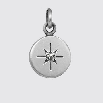 Disc Charm With Star set Charms