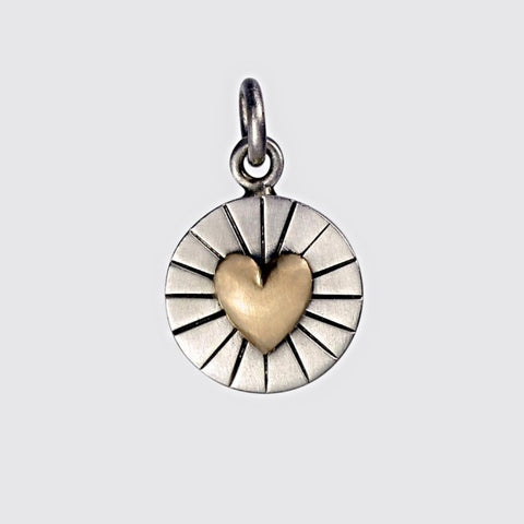 Radiant Heart of Gold Charm