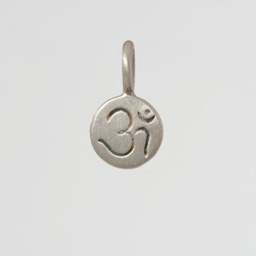 Tiny Etched Om Disc Charm