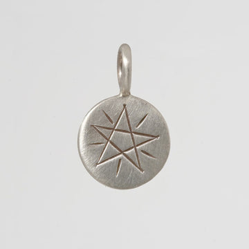 Etched Star Disc Charm