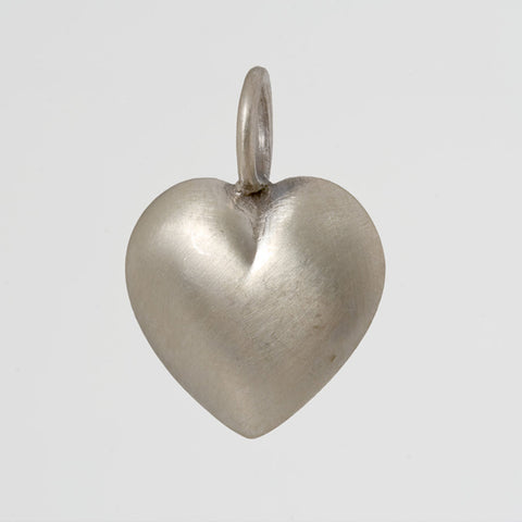Large Puffy Heart Charm