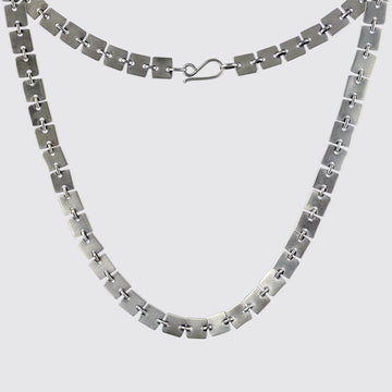 Square Disc Chain Necklace