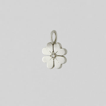 Lucky Shamrock Charm with Stone Center