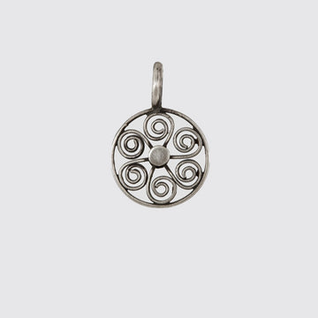 Filigree Wheel Charm