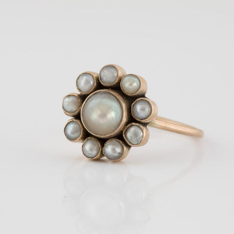 Pearl Flower Gold Ring