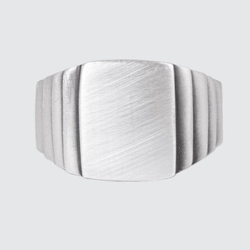 Sterling Silver Five Tier Deco Ring