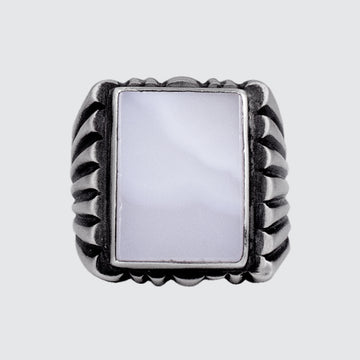 Large Rectangular Stone Ring