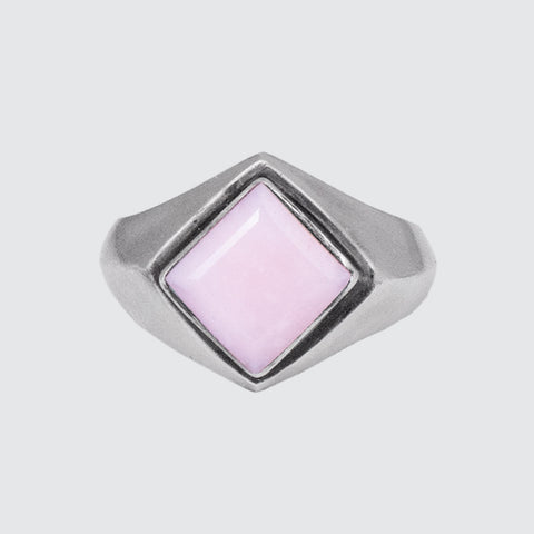 Faceted Square Stone Ring