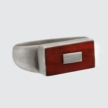 Stone Rectangle with Inset Silver