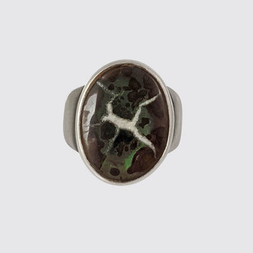 Sterling Silver Septarian Ring In Size 5.75
