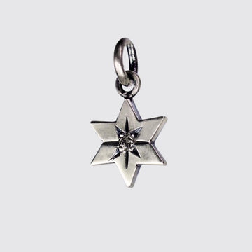 6 Pointed Star of David with Diamond Center