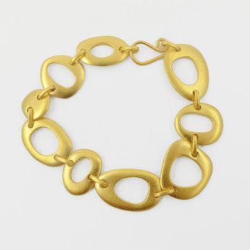 Organic Shapes Linked Bracelet
