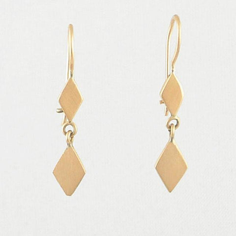 Dainty double diamond dangles