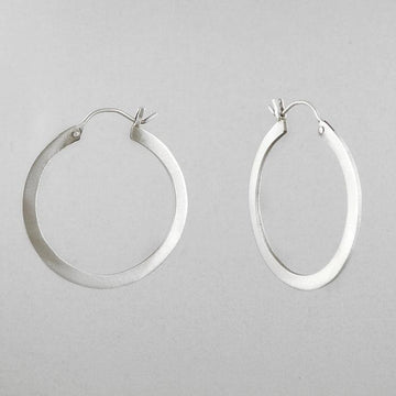 Flat Medium Hoop Earring