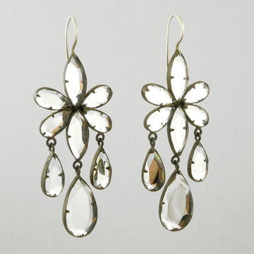 Large Flower Drops With Beveled Mirrors