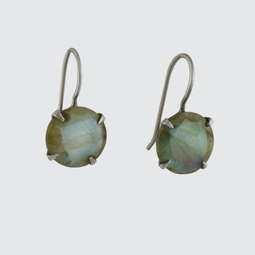 Classic Faceted Stone Drop Earrings