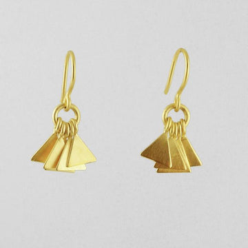 Dainty Triangle Dangle Earrings