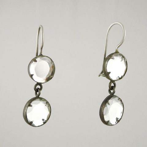 Round Double Mirror Earring