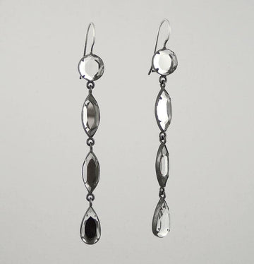 Long Beveled Mirror Drop Earrings