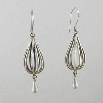 Wire Cage Droplet Earring