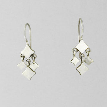 Tiny Cut Out Diamond Dangle Earrings