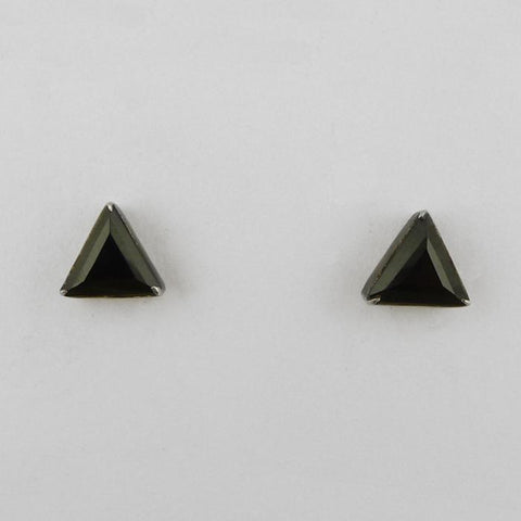 Tiny Faceted Triangle Stud Earring