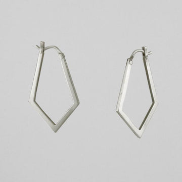 Long Diamond Hoop Earrings