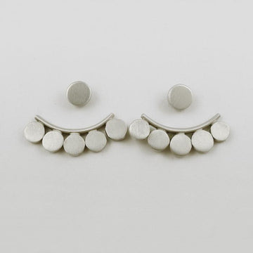 Disc Hugger Stud Earrings