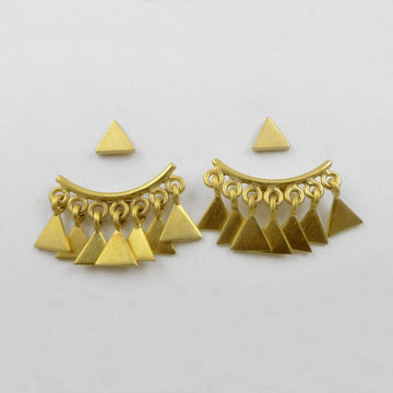 Triangle Hugger Stud Earrings