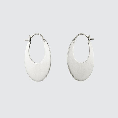 Medium Oval Hoop Earrings