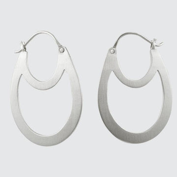 Double Oval Hoop Earrings